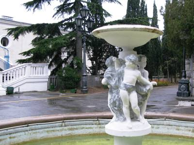 Санаторий Украина, чаша-фонтан